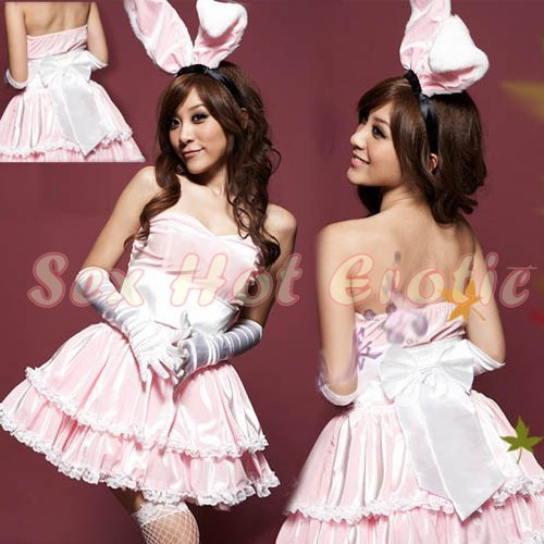 New SEXY & HOT Party Girl Cosplay Rabbit Dress Cute women Costume Lingerie CR# 01b