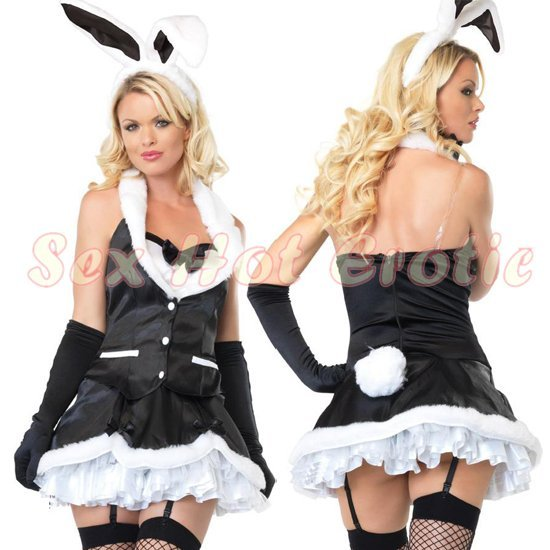 New SEXY & HOT Party Girl Cosplay Rabbit Dress Cute women Costume Lingerie CR# 04