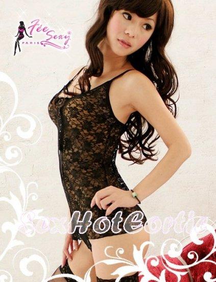 Fee Sexy High quality Lace babydoll lingerie ladies underwear women sleepwear w/G string FS43