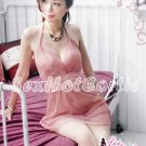 Fee Sexy High Quality Lace Satin backless Babydoll lingerie Women Lingerie Nightwear G string FS27