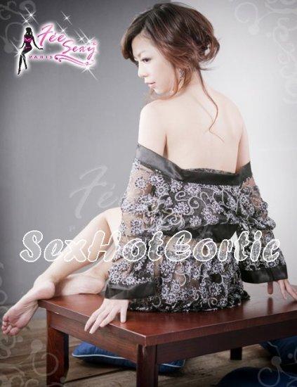 Fee Sexy High Quality Kimono Babydoll lingerie Women Underwear Nigthwear SleepDress G string FS12