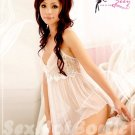 Fee Sexy High quality gauze lace babydoll lingerie lady underwear women sleepwear G string FS84