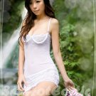 Fee Sexy High quality pure white backless Gauze lace babydoll lingerie G string FS 94