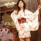 New Hot & Sexy Lace Japanese Kimono Lingerie Costume Sleep Dress KM#22