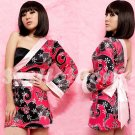 New Hot & Sexy Lace Japanese Kimono Lingerie Costume Sleep Dress KM#36