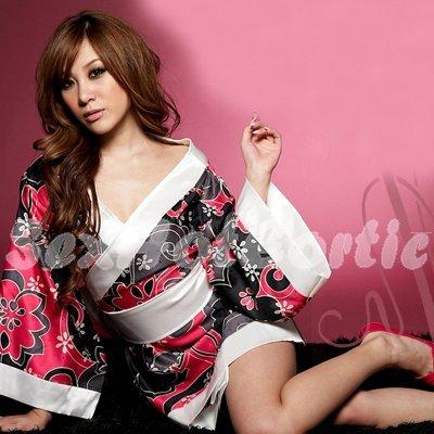Hot & Sexy Lace Japanese Kimono Lingerie Costume Sleep Dress KM#09