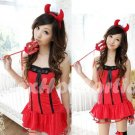 New Holloween party SEXY & HOT Devil Women Cosplay Dress Navy GIRL Costume Lingerie AD# 02