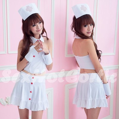 New Hot Women Lingerie Sexy Nurse Cosplay Adult Costume Dress NU# 45
