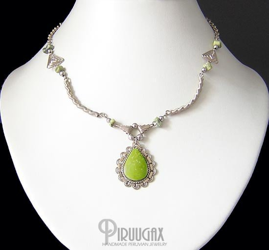 ANDEAN SPEARS Silver Serpentine Necklace choker