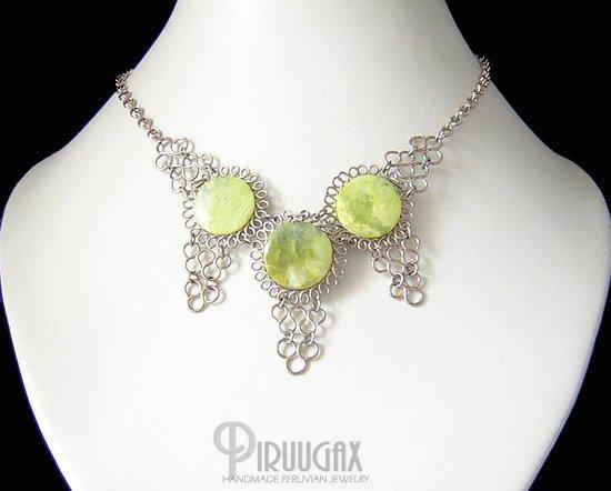 GREEN VALLEY Silver Serpnetince Necklace Choker