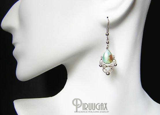 PRINCESS Blue Opal Silver Chandelier Earrings