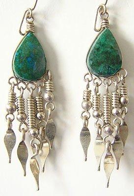 NATIVE PRIDE Turquoise Silver Chandelier Earrings