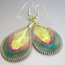 TAMARA Colorful LightWeight Hand Woven Thread Earrings