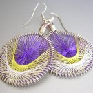 TANGO LightWeight Hand Woven Thread Earrings