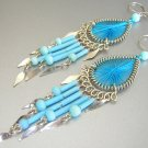 KAHLUA ~  Hand Woven Hippie Thread Chandelier Earrings