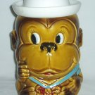 Vintage Monkey Cookie Jar Sailor Hat  Japan