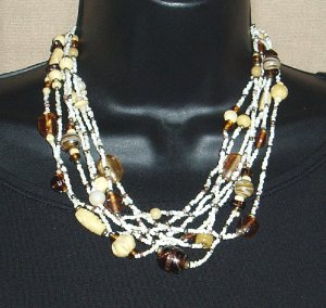 Vintage Seven Strand Chunky Necklace Casual  Corner