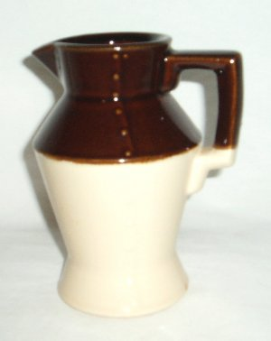 Vintage McCoy Pitcher  Brown/White 11  USA  5 1/2""