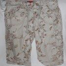 Faded Glory Girls Shorts   16  Tan Print  Cargo Style