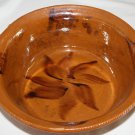 Vintage Red Clay Pottery  Large Bowl with Handles Hand Crafted