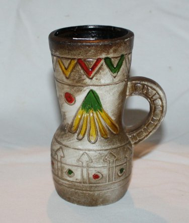 Vintage Hand Painted Pottery  Clay Pottery
