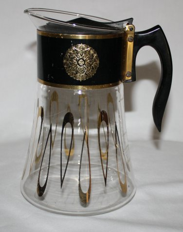 Vintage David Douglas Flameware Glass Coffee Pot  8 Cup  Signed