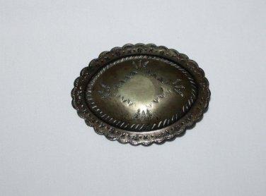 Vintage Solid Brass Belt Buckle Western Style Rockabilly