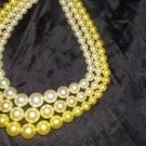 vintage ladies pearl  multiable color necklaces