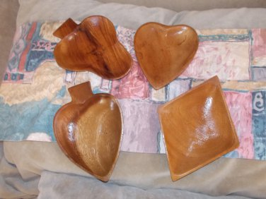 vintage wooden snack trays