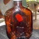 vintage 1/2 pt whiskey bottle