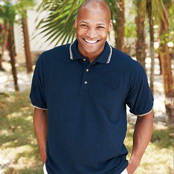 32000 GILDAN Tipped Collar Fashion Pique Sportshirt (Quantity of 3 shirts!!!)