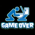Game Over -Toilet Black T-shirt