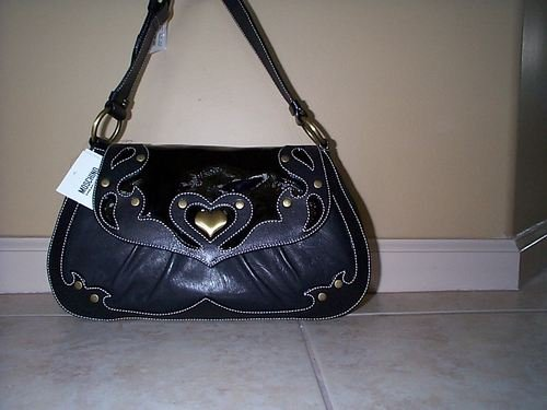 Moschino Black Leather & Patent MSRP $580!