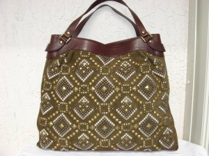 Kotur Studded Suede & Leather Tote $1200