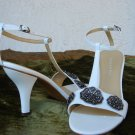 Tahari White Leather Sandal  7.5M