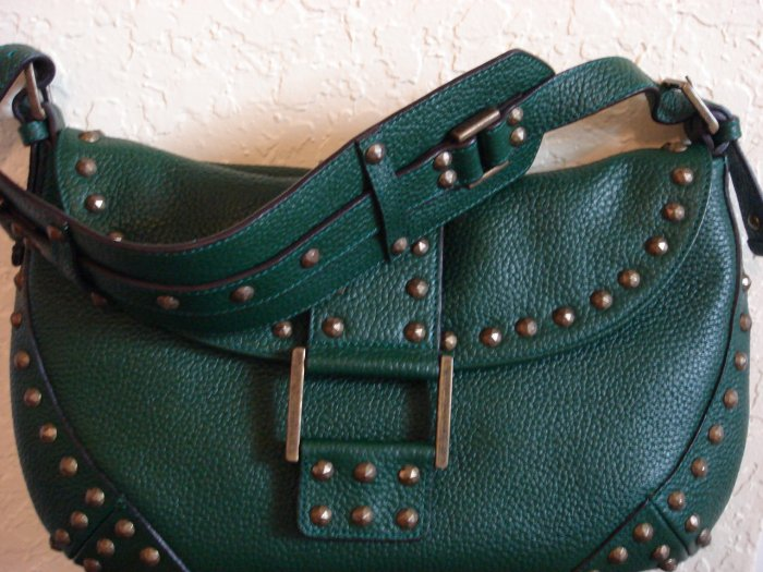 BCBG Max Azria Evergreen Pebble Leather Hobo