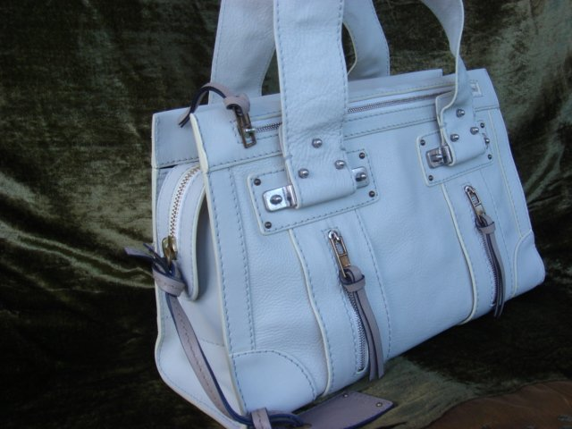 Chloe Blanc Leather Tote