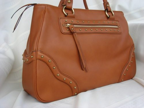 Michael Kors Large Ashbury Leather Satchel Luggage Brown
