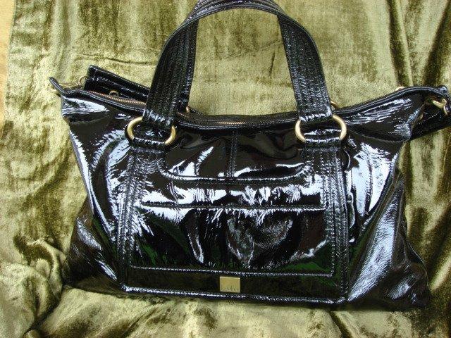 Kooba Black Patent Leather Hudson