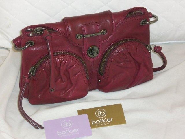 Botkier Cherry Red Leather Bianca Clutch