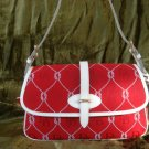 Dooney & Bourke Large Red Flap RP834