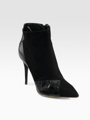 Chloe Irina Black Suede/Ayers Ankle Boots 8.5M $1,000