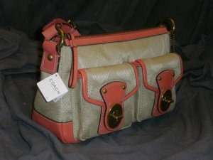 COACH Legacy Signature Shoulder Handbag F13102