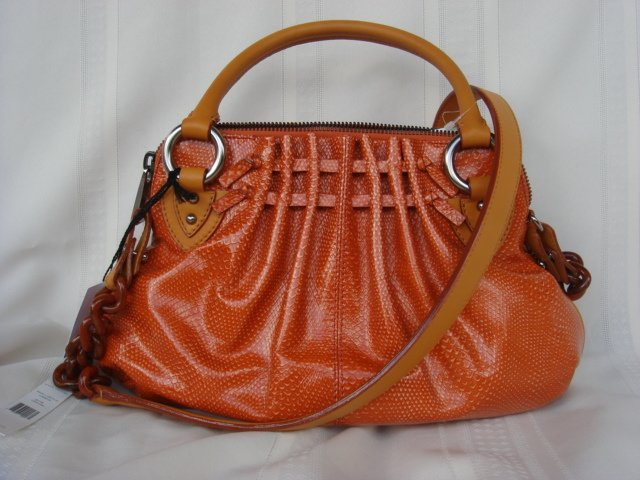 Marc Jacobs Cecilia Orange Leather $1,250++