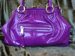 Marc Jacobs Violet Patent Leather Stam $1,350++