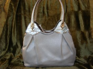 St. John Canvas & Croc Embossed Leather $900