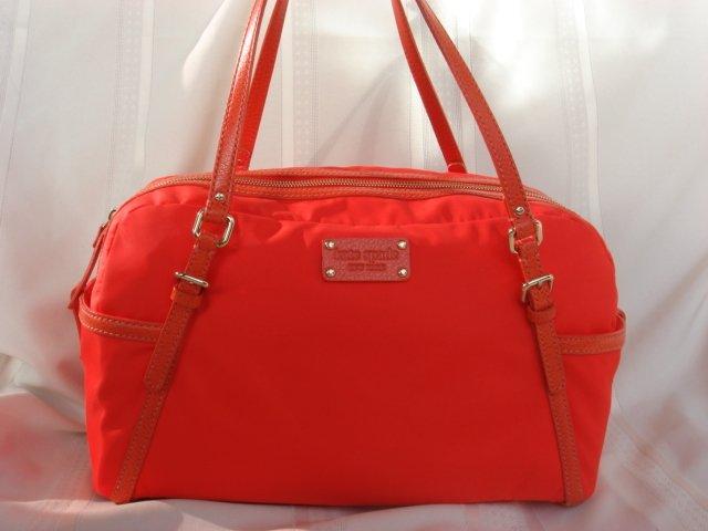 Kate Spade Orange Nylon Leather Trim Satchel $345+