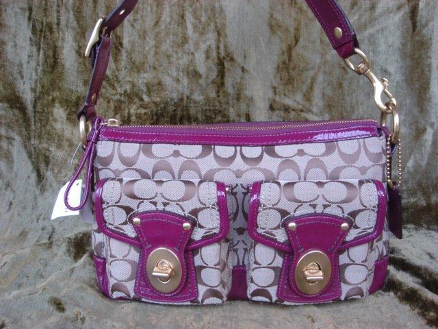 COACH Legacy Signature Shoulder Handbag F12869