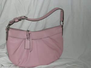 Coach Blush Pink Pleated Leather Hobo 13730