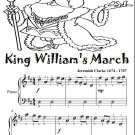 King William's March Easy Piano Sheet Music Tadpole Edition PDF